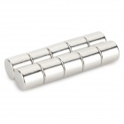 NdFeB N35 Round Magnets - Silver (10*10 mm / 10PCS)