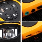 BT1063 Bluetooth V3.0 Subwoofer Speaker w/ Flashlight - Yellow + Black