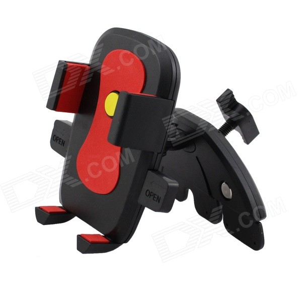 Car CD Slot Mount Holder for IPHONE / Samsung / Xiaomi - Red + BlackMounts &amp; Holders<br>Form  ColorBlack + Red + Multi-ColoredModelN/AQuantity1 DX.PCM.Model.AttributeModel.UnitMaterialABSShade Of ColorBlackCompatible ModelsIPHONE 5S,IPHONE 5C,IPHONE 5,IPHONE 4,IPHONE 4S,IPHONE 3GSCompatible Size5-7.5 DX.PCM.Model.AttributeModel.UnitMount TypeCar MountRotation360 DX.PCM.Model.AttributeModel.UnitWith ChargerNoPacking List1 x Mobile phone clip1 x Base<br>