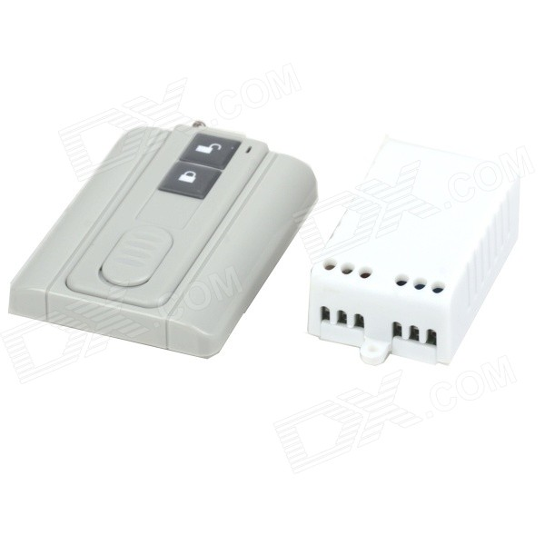 ZnDiy-BRY RF AC220V 1-CH  Remote Control Switch w/ Wireless Controller - White + GreyDIY Parts &amp; Components<br>ModelZBY15Quantity1 DX.PCM.Model.AttributeModel.UnitForm ColorOthers,White + GreyMaterialPVC + PlasticEnglish Manual / SpecNoOther FeaturesOperating Voltage: AC220V;<br>Radio Frequency: 315MHz / 433MHz; <br>Maximum Load: 1000WCertificationN/APacking List1 x Remote control switch1 x Controller (1 x 23A/12V battery)<br>