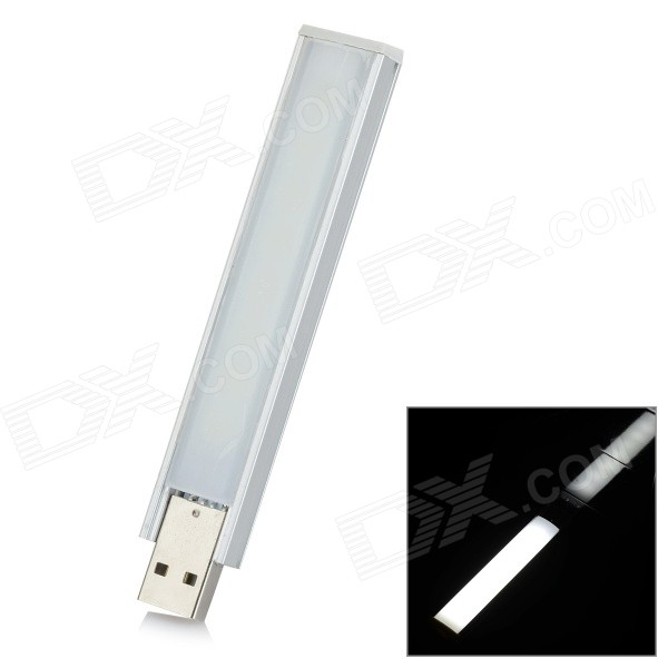 L-12 1.8W 60lm 8-LED Warm White USB Nightlight Reading Light Lamp (5V)LED Nightlights<br>ModelL-12MaterialAluminum + ABSForm  ColorWhite + SilverQuantity1 DX.PCM.Model.AttributeModel.UnitPowerOthers,1.8WRated VoltageOthers,5 DX.PCM.Model.AttributeModel.UnitConnector TypeOthers,USBColor BINWarm WhiteChip TypeLG5252Emitter TypeLEDTotal Emitters8Theoretical Lumens80 DX.PCM.Model.AttributeModel.UnitActual Lumens60 DX.PCM.Model.AttributeModel.UnitColor Temperature3000KDimmableNoInstallation TypeInsertedPacking List1 x USB nightlight<br>