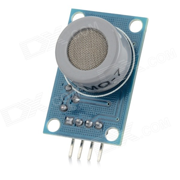 MQ-7 Harmful Gas Carbon Monoxide Detector Sensor Module for ArduinoSensors<br>ColorBlue + Silver GreyModelMQ-7Quantity1 PieceMaterialPlastic + copper + ironApplicationSuitable for environment / home CO carbon monoxide / harmful gas detectionWorking Voltage   10 VEnglish Manual / SpecNoOther FeaturesA product for Arduino that works with official Arduino boards.Packing List1 x CO carbon monoxide sensor module<br>