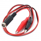 DIY Alligator Clips to 5.5 x 2.1 Male Test Cable - Black + Red