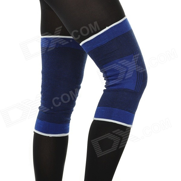 PF04 Outdoor Sports Protective Knee Supports - Blue (Pair)