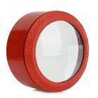 Cylinder-Type-3LED-White-Light-Reading-5X-Magnifier-Red-(2*CR2016)
