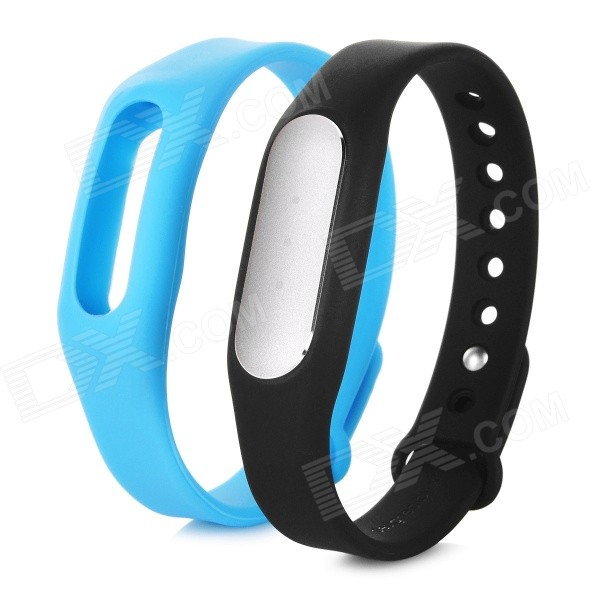 Xiaomi Waterproof Sports Smart Bluetooth V4.0 Bracelet - Black + BlueSmart Bracelets<br>Form  ColorBlack + BlueQuantity1 DX.PCM.Model.AttributeModel.UnitMaterialAluminum alloy TPSIV + TPUShade Of ColorBlackWater-proofIP67Bluetooth VersionBluetooth V4.0Compatible OSAndroid 4.4 or above, bluetooth 4.0 XiaomiBattery Capacity45 DX.PCM.Model.AttributeModel.UnitBattery TypeOthers,N/AStandby TimeN/A DX.PCM.Model.AttributeModel.UnitOther FeaturesWith white LED indicator lightPacking List1 x Bracelet1 x Wristband1 x Chinese user manual1 x Charging cable (15cm)<br>