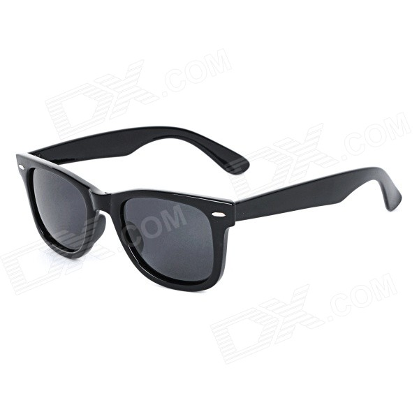 Unisex UV400 Protection Plastic Frame Resin Lens Sunglasses - BlackSunglasses<br>Frame ColorBlackLens ColorBlackQuantity1 DX.PCM.Model.AttributeModel.UnitShade Of ColorBlackFrame MaterialPlasticLens MaterialResinProtectionUV400GenderUnisexSuitable forAdultsFrame Height4.5 DX.PCM.Model.AttributeModel.UnitLens Width5.5 DX.PCM.Model.AttributeModel.UnitBridge Width1 DX.PCM.Model.AttributeModel.UnitOverall Width of Frame14.5 DX.PCM.Model.AttributeModel.UnitPacking List1 x Sunglasses<br>