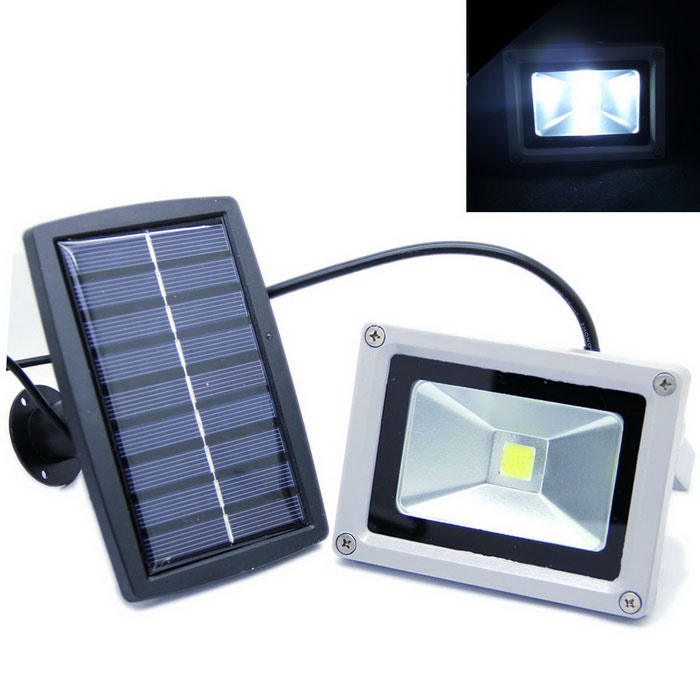 Light Control Solar LED Light for Garden / Corridor / Balcony Cold White Light - Grey