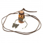 Women's Wishing Bottle Decoration Necklace - Brown
