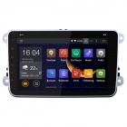 No Disc Android 4.4 Car DVD Player GPS Radio for VW - Black