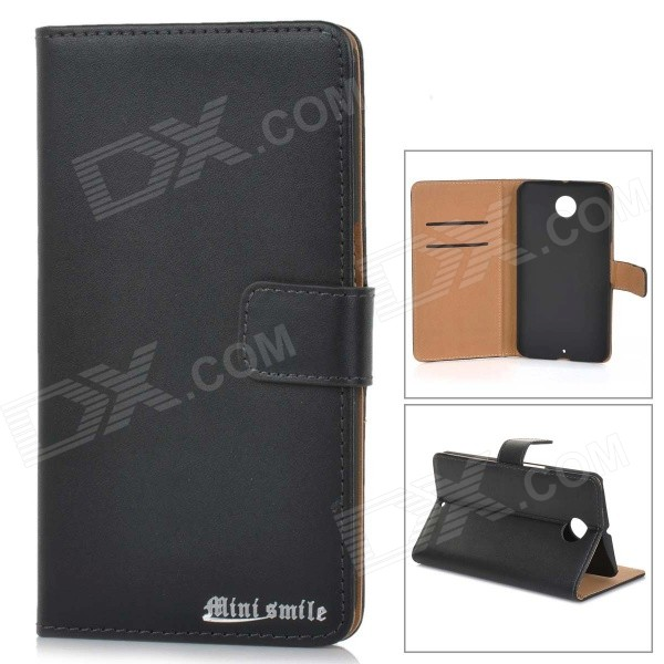 Protective Flip-Open Leather Case Cover for Motorola NEXUS 6