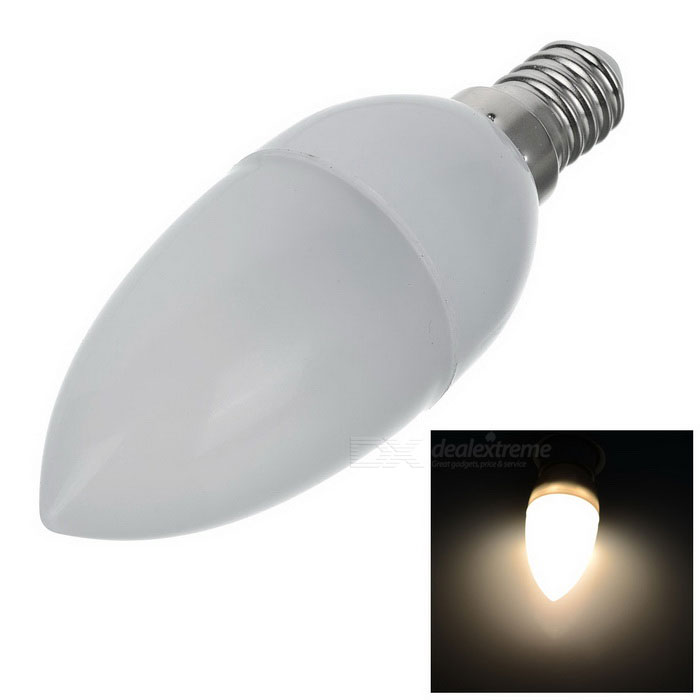 Buy E14 3W 250LM 2700K Warm White Light 8x2835 SMD LED Candle Bulb with Litecoins with Free Shipping on Gipsybee.com