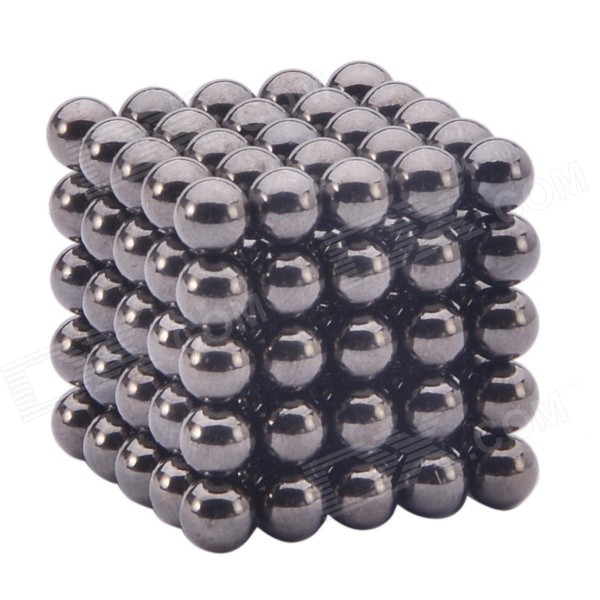 5mm Magnetic Beads Sphere Neocube Intelligence Toy - Black (125PCS)Magnets Gadgets<br>Form  ColorBlack (Ball-125 PCS)ModelCL-08MaterialN35 NdFeB (neodymium iron boron)Quantity1 DX.PCM.Model.AttributeModel.UnitNumber125Suitable Age 8-11 years,12-15 years,Grown upsPacking List1 x Set of 5.0mm magnetic balls (125 PCS)1 x Box<br>