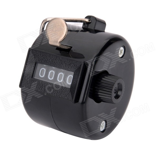Buy 4-Digit Manual Mechanical Counter - Black (Max. 9999) with Litecoins with Free Shipping on Gipsybee.com