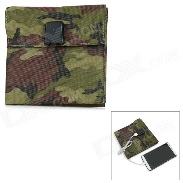 Portable 4-Folding 10W 5V USB 2.0 Solar Panel Charger - Camouflage
