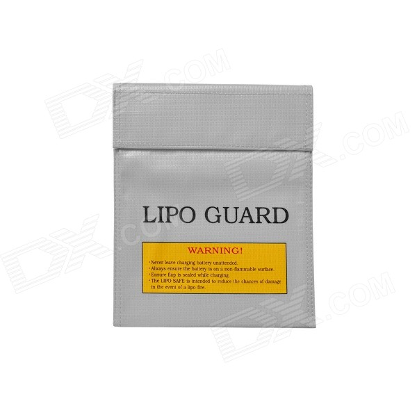 22*18cm Exposion-Proof Safety Storage Bag for Li-Po Battery - GreyRepair Parts and Tools<br>Form ColorSilver GreyModel22 x 18cmMaterialFireproof materialQuantity1 DX.PCM.Model.AttributeModel.UnitCompatible ModelRC Li-Po batteryPacking List1 x Safety guard bag (22 x 18cm)<br>