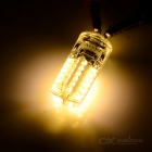 JR-LED G4 3W 230lm 3000K 48-SMD LED Warm White Corn Lamp (5PCS/DC 12V)