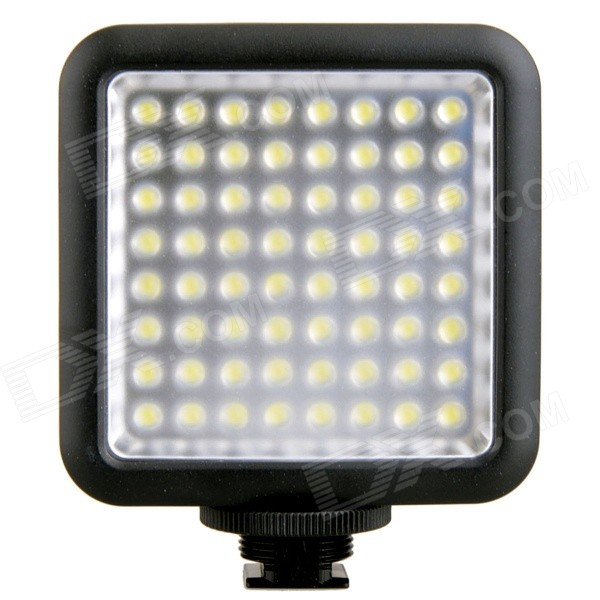 Buy GODOX Portable 1000lm 6500K 64-LED Video Light - Black (4 * AA) with Litecoins with Free Shipping on Gipsybee.com
