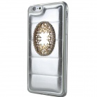 Pearly Luster Jewel Inlaid Mirror Back Case for IPHONE 6 PLUS - Silver