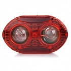 2-LED 3-Mode Red Light Bike Bicycle Tail Warning Lamp - Red (2 * AAA)