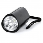50lm 3-Mode Bike White Light Mounted Headlamp - Black (2 * CR2032)