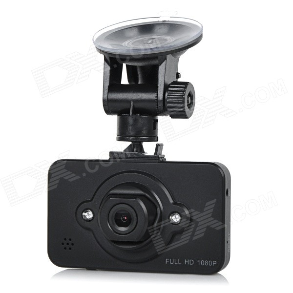 "2.3"" 1080P 160' Wide-Angle IR Night Vision Car DVR - Black"