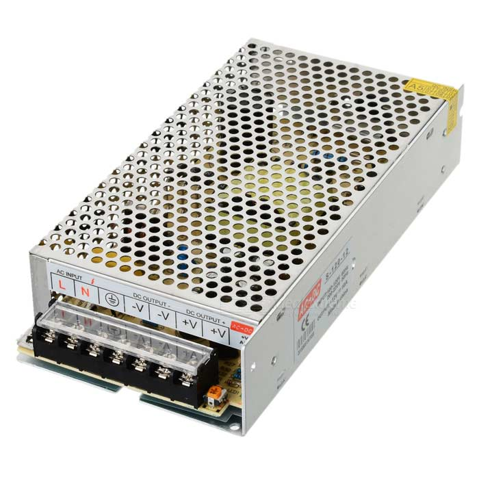 12V 10A LED Switching Power Supply - Silver