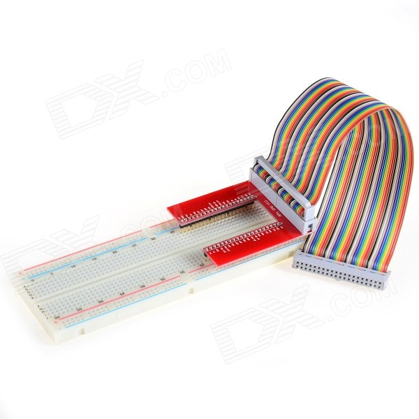 U-Shaped GPIO Expansion Board + Breadboard + Cable Set - Multicolored