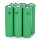 Rechargeable-37V-2600mAh-18650-Li-ion-Battery-Set-Green-(6-PCS)