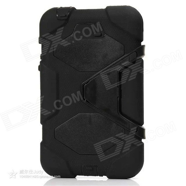 Silicone Case w/ Stand for Galaxy Tab3 7.0 P3200 - BlackTablet Cases<br>Form  ColorBlackModelP3200Quantity1 DX.PCM.Model.AttributeModel.UnitShade Of ColorBlackMaterialSiliconeCompatible ModelP3200Compatible BrandSamsungTypeCases with Stand,Full Body CasesStyleCasualCompatible Size7 inchPacking List1 x Case<br>