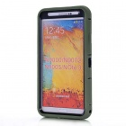 Protective Silicone Back Case for Samsung Note 3 N9000 - Army Green