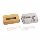 SAMDI Charging Station for IPHONE 6/5S/5C/4S/4 - Silver + Beige