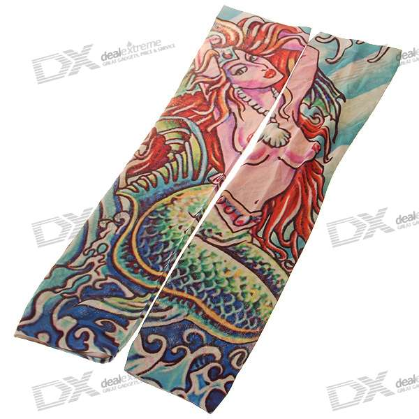 Colorful Tattoo Style Sleeves Arm Stockings - MermaidAccessories<br>Packing List<br>