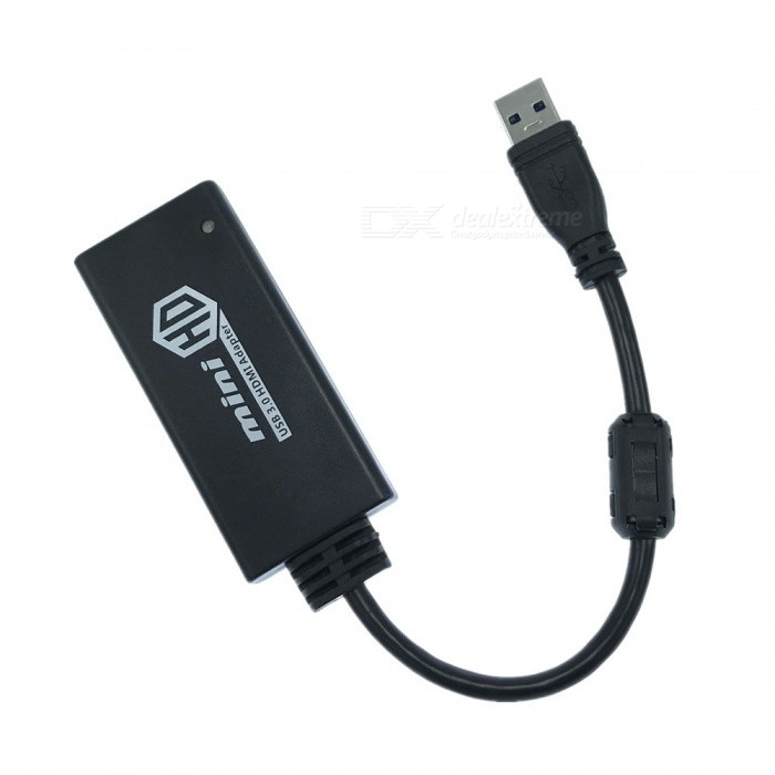 AY54 Handy USB3.0 to HDMI Adapter - BlackAV Adapters And Converters<br>Form ColorBlackModelAY54MaterialABS + electronic componentQuantity1 DX.PCM.Model.AttributeModel.UnitShade Of ColorBlackCable Length15 DX.PCM.Model.AttributeModel.UnitConnectorUSB,HDMIPower AdapterOthers,N/APacking List1 x Adapter<br>