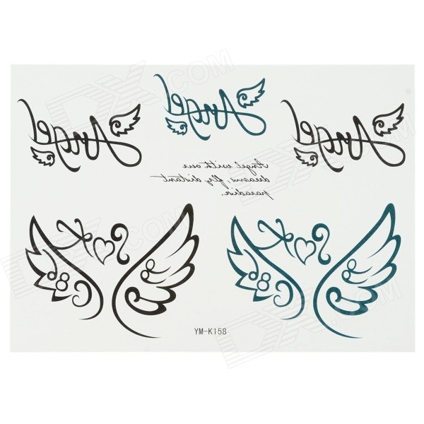 K158 Wings Style Body Tattoo Sticker - Black for sale in Bitcoin, Litecoin, Ethereum, Bitcoin Cash with the best price and Free Shipping on Gipsybee.com
