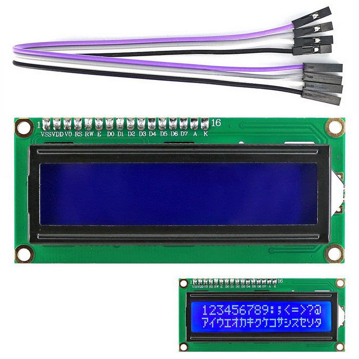 OPEN-SMART I2C / IIC LCD 1602 Display Module for Arduino Raspberry PiLCD, LED Display Module<br>Form  ColorArmy Green + BlackModelI2C 1602 LCD DisplayQuantity1 DX.PCM.Model.AttributeModel.UnitMaterialPCB + PlasticScreen TypeOthers,LCDScreen Size2.6 DX.PCM.Model.AttributeModel.UnitResolutionOthers,80 x 16Working Voltage   4.5~5.5 DX.PCM.Model.AttributeModel.UnitWorking Current80 DX.PCM.Model.AttributeModel.UnitEnglish Manual / SpecYesDownload Link   https://drive.google.com/folderview?id=0B6uNNXJ2z4CxYm52MDc2MmxZZmc&amp;usp=sharingPacking List1 x I2C LCD 1602 Display Module1 x 4-pin cable ( 20cm )<br>