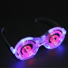 LED Luminous Circular Plastic Glasses - Transparent