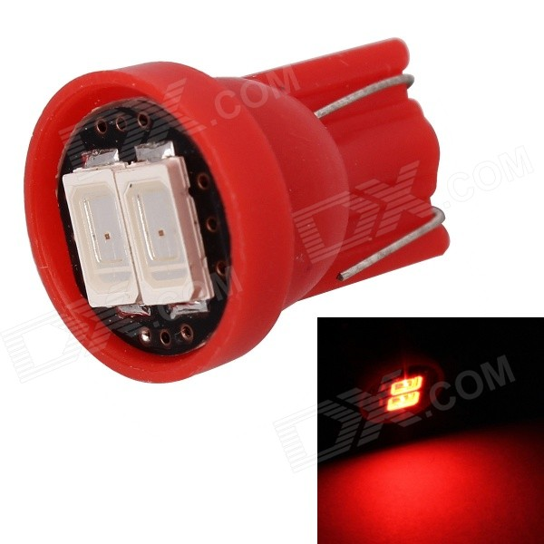 MZ T10 0.5W 80lm 2-SMD 5630 LED Car Red Light Lamp (12V)Tail Lights<br>Color BINRedModelN/AQuantity1 DX.PCM.Model.AttributeModel.UnitMaterialPCBForm  ColorRedEmitter TypeLEDChip BrandOthers,5630 SMDChip Type5630 SMDTotal Emitters2PowerOthers,0.5WWavelength630~660 DX.PCM.Model.AttributeModel.UnitTheoretical Lumens90 DX.PCM.Model.AttributeModel.UnitActual Lumens80 DX.PCM.Model.AttributeModel.UnitRate Voltage12VWaterproof FunctionNoConnector TypeT10ApplicationLicense plate light,Clearance lamp,Instrument lampPacking List1 x LED Bulb<br>