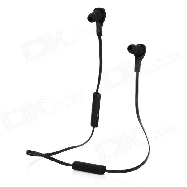 HS06 Bluetooth V3.0 In-Ear Stereo Earbuds Earphones w/ Mic - Black