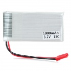 3.7V 1000mAh 15C JST Connector Battery - White + Red