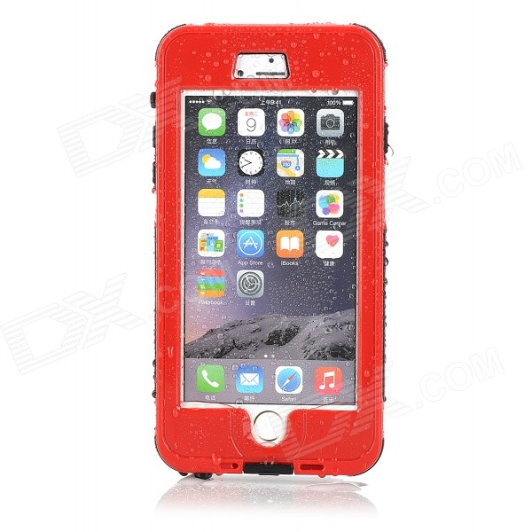 Waterproof Touch ID Enabled Case for IPHONE 6 Plus 5.5 - Red + BlackWaterproof Cases<br>Form ColorRed + BlackQuantity1 DX.PCM.Model.AttributeModel.UnitMaterialPC + siliconeWaterproof LevelIPX8Compatible ModelsiPhone 6 plusTouch Control via CaseYesSuitable forCamping,Boating,Fishing,Diving,Swimming,Skiing,Rainy DaysCertificationNOPacking List1 x Waterproof Case1 x Strap (40cm)<br>