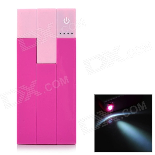 Piano Keys Style 10000mAh Power Bank w/ Dual USB - Deep Pink