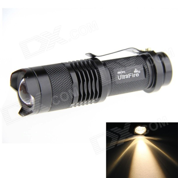 UltraFire SK68 XP-E Q5 100lm 1-Mode Warm White Zoomable LED Flashlight