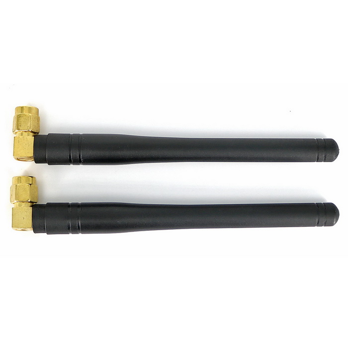 433MHz 3dBi Right Angled SMA Antennas - Black + Golden (2PCS)