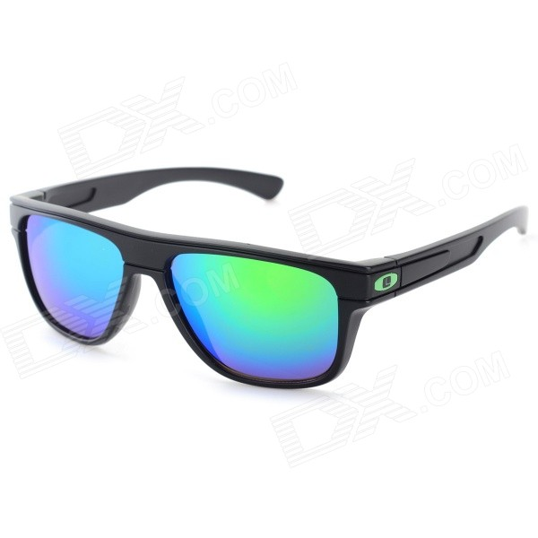 Outdoor PC Frame PC Lens UV400 Sunglasses - Black + Green REVO