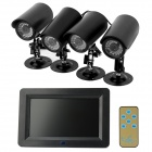 7-LCD-24GHz-4-CH-Wireless-DVR-Monitor-2b-4-*-IR-Cameras-Black