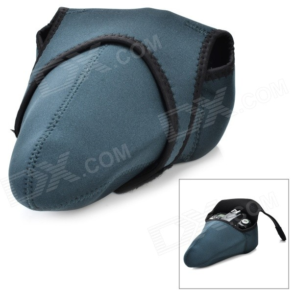 Buy Camera Sleeve Bag for Canon / Nikon / Pentax - Black + Grey (L) with Litecoins with Free Shipping on Gipsybee.com