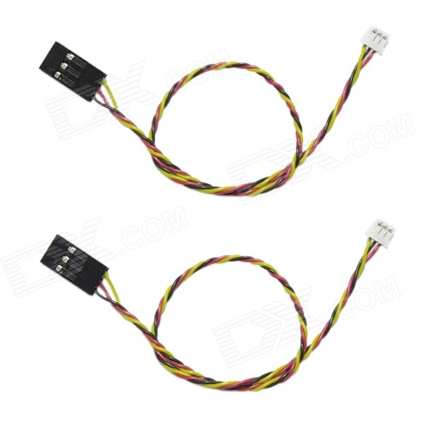 Silicone Video Cable for Sony 700 TVL CCD Camera - Black + Red (2PCS)Other Accessories for R/C Toys<br>Form  ColorBlack + Red + Multi-ColoredModel30cmMaterialSiliconeQuantity2 DX.PCM.Model.AttributeModel.UnitCompatible ModelSony 700 TVL CCD cameraPacking List2 x Video cables<br>