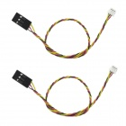 Silicone Video Cable for Sony 700 TVL CCD Camera - Black + Red (2PCS)