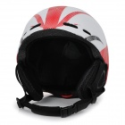 Moon MOM-20 Protective Outdoor Light Helmet for Skiing - White + Red (M)